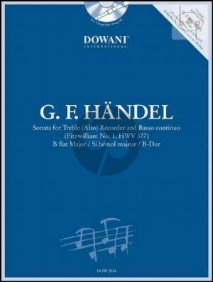 Sonate B-flat major (Fitzwilliam No.1 HWV 377) (Treble Rec.-Bc) (Bk-Cd)