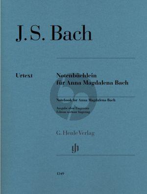Bach Notenbuchlein fur Anna Magdalena Bach (without fingering/ zonder vingerzettingen)) (Herausgegeben von E.G.Heinemann - Generalbass S. Petrenz) (Henle-Urtext)