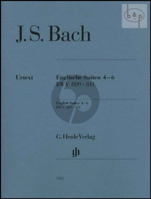 Englische Suite Vol.2 (No.4 - 6) (BWV 809 - 811) (without fingering)