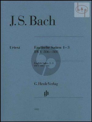 Englische Suiten Vol.1 (No.1 - 3) (BWV 806 - 808) (without fingering)