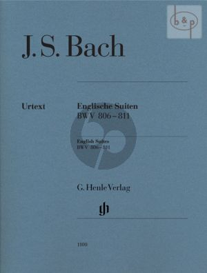 Englische Suiten BWV 806 - 811 Piano (without fingering)