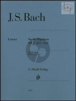 Bach 6 Partiten (BWV 825 - 830) (without fingering)