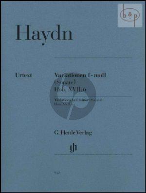 Variationen f-moll (Sonate) Hob.XVII:6 Klavier