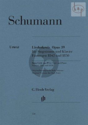 Liederkreis Op.39 (Fassung 1842 and 1850) (Original Keys for High Voice)