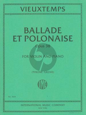 Vieuxtemps Ballade et Polonaise Op.38 Violin-Piano (Tyrone Greive)
