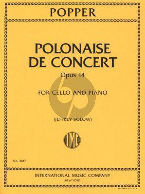 Popper Polonaise de Concert Op.14 Cello and Piano (edit.Jeffrey Solow)