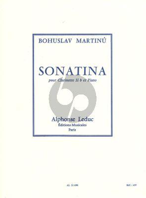 Sonatine H.356 Clarinet Bb and Piano