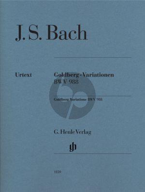 Bach Goldberg Variationen BWV 988 Klavier (Edition WITHOUT Fingering) (edited by Rudolf Steglich) (Henle-Urtext)