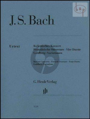 Italienisch Konzert-Franzosische Ouverture- 4 Duette-Goldberg Variationen) (edition without fingering!!)