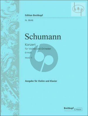 Concerto d-minor WoO1 (Edition violin-piano by the Composer)