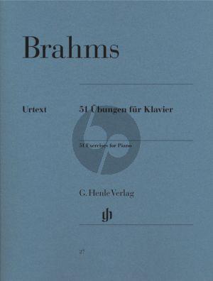 Brahms 51 Ubungen Klavier (edited by Camilla Cai) (Henle-Urtext)