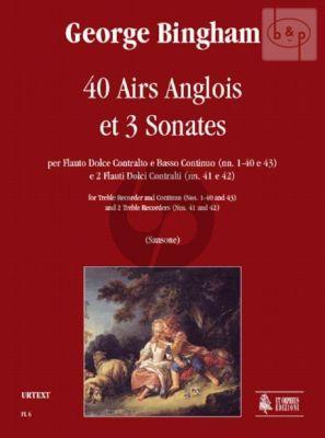 40 Airs Anglois and 3 Sonatas (Treble Rec.-Bc) (No's 1 - 40 and 43) (2 Treble Rec.)
