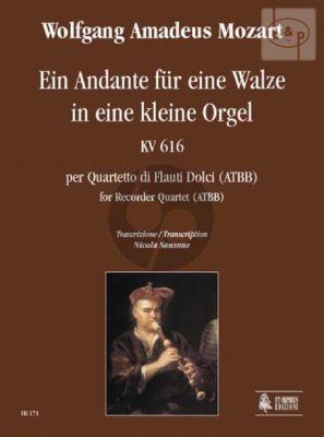 Andante fur eine Walzer in eine kleine Orgel KV 616 (ATBB)