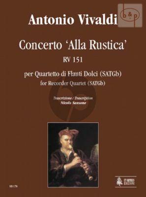 """Concerto """"Alla Rustica"""" RV 151 (SATGb)"""
