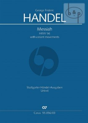 Messiah HWV 56 (Vocal Score with alternative movements) (engl.)