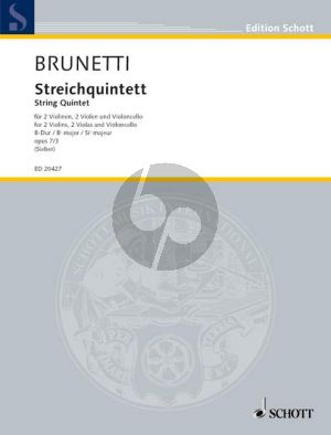 Quintett B-flat major Op.7 No.3 (2 Vi.- 2 Va.-Vc.)
