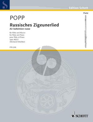 Popp Russisches Zigeunerlied Op. 462 No. 2 Flute and Piano (edited by Weinzierl-Wachter)