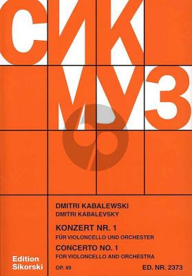 Kabalevsky Concerto No.1 Op.49 Violoncello-Orchestra (piano reduction)