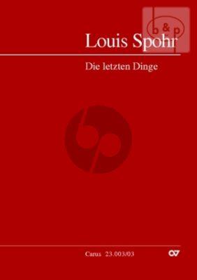 Die Letzten Dinge (The Last Judgement) (SATB soli-SATB-Orch.) (Vocal Score)