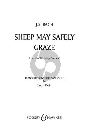Bach Sheep may safely graze (from Birthday Cantata) Piano solo (Petri)