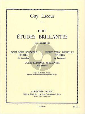 Lacour 8 Etudes Brillantes Saxophone (Mule) (advanced)
