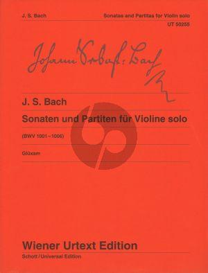 Bcah 6 Sonaten & Partiten BWV 1001 - 1006 Violine Solo (edited by Dagmar Gluxam)