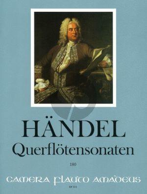 Handel Sieben Sonaten · HWV 359b, 363b, 367b, 374, 375, 376 und 379 Flote und Bc (Continuo Aussetzung Winfried Michel)