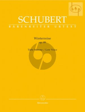 Schubert Winterreise Op.89 D.911 Low Voice (edited by Walther Durr)