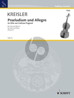 Kreisler Praeludium & Allegro im Stile Gaetano Pugnani Viola und Klavier (arr. Giuseppe Pascucci)