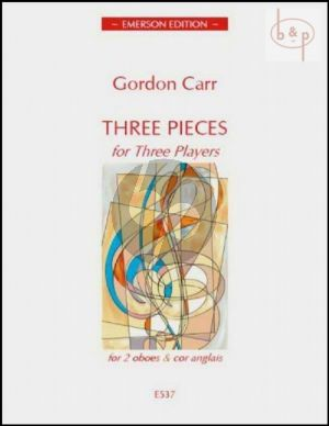 Carr 3 Pieces for 3 Players (Score/Parts)