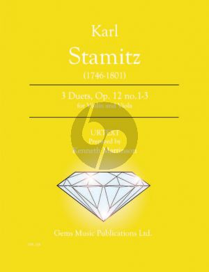 Stamitz 3 Duets Op.12 (edited by Kenneth Martinson) (Urtext)