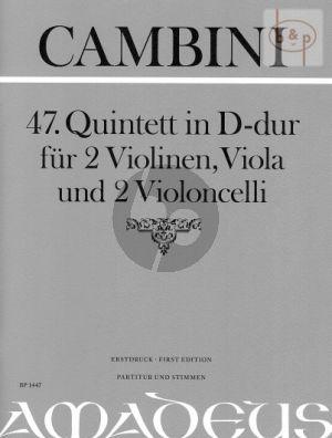 Quintet No.47 D-major (Score/Parts)