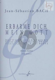 Erbarme dich, mein Gott (from Bach's Matthaus Passion BWV 244) piano