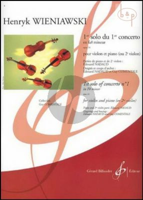 Concerto No.1 Op.14 f-minor 1er Solo de Concert (with 2nd. Violin) (Nadaud-Comentale)