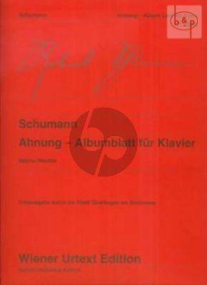 Ahnung - Albumblatt (edited by Beiche-Reutter)