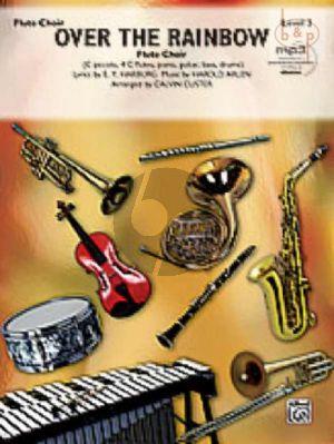 Over the Rainbow (Flute Choir) (C Picc.- 4 C Fl.- Piano-Guitar-Bass-Drums)