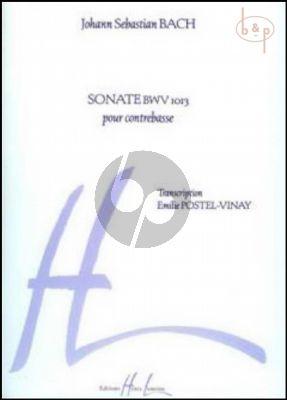 Sonate BWV 1013