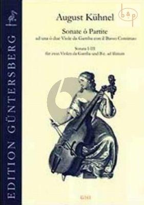 Sonate o Partite (Sonata 1 - 3) (2 Viola da Gamba- Bc (opt.)