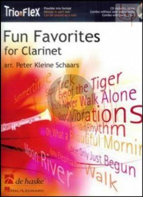 Fun Favorites for Clarinet (Trio-Flex) (3 Clarinets) (Bk-Cd) (arr. Peter Kleine Schaars)