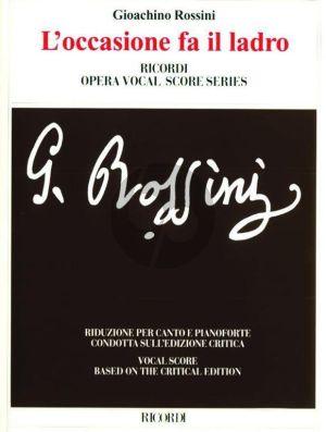 Rossini L'Occasione fa il Ladro Vocal Score