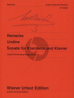 Reinecke Sonate Undine Op.167 Klarinette und Klavier