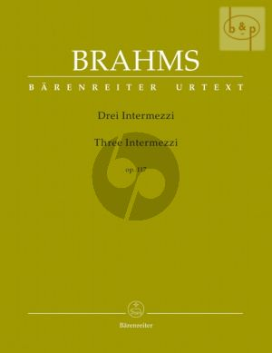 3 Intermezzi Op.117 Piano