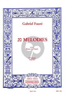 Faure 20 Melodies Vol.2 Voix Soprano