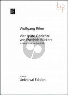 4 Spate Gedichte von Friedrich Ruckert