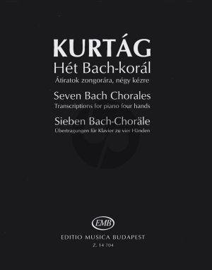 Kurtag 7 Bach Chorales Piano 4 hds