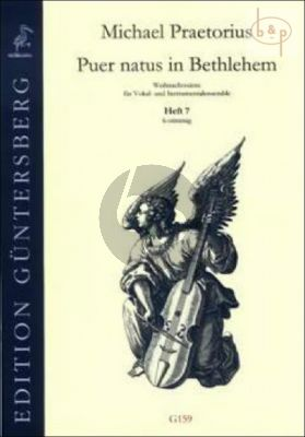 Puer natus in Bethlehem (Christmas Settings for Vocal and Instr.Ens.) Vol.7 (6 Part)