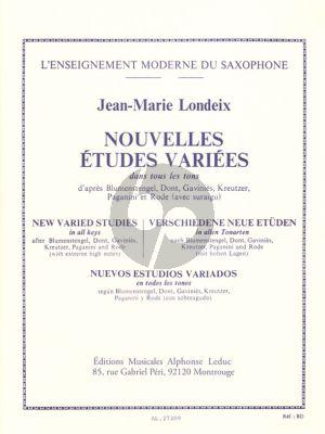Londeix Nouvelles Etudes Varies dans tous les tons (d'apres Blumenstengel, Dont, Kreutzer etc.)