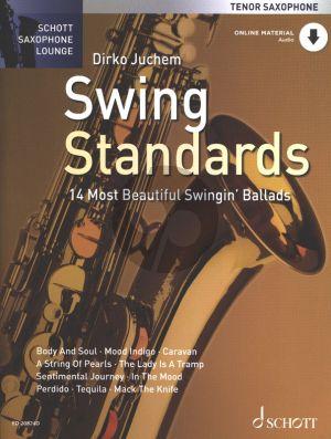 Album Swing Standards Tenor Sax.-Piano (Bk-Online Audio) (14 Most Beautiful Ballads) (arr. Dirko Juchem)
