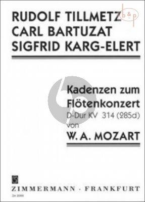 Cadenzas to Mozart's Flute Concerto KV 314 D-major