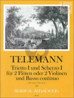 Trietto I und Scherzo I (TWV 42:G2 - TWV 42:A1)